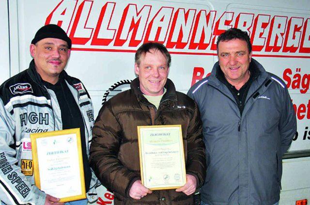 Der Chef des Betonbohr- und Sägebetriebes Klaus Allmannsberger legt bei seinen neun Mitarbeitern Wert auf ein professionelles Team.
