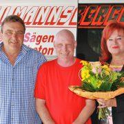 Der Mitarbeiter Stefan Flossmann feiert sein 20 jähriges Jubiläum bei Allmannsberger Kernbohrungen